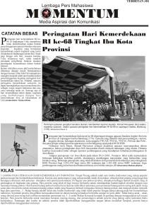 Koran Momentum Edisi - 01